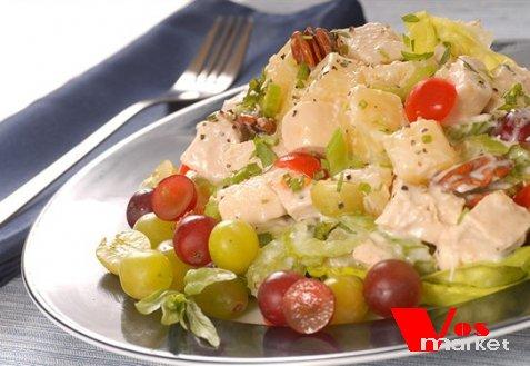 Салат с виноградом и яблоком рецепт с 27