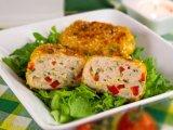 Куриные котлеты с сыром и перцем