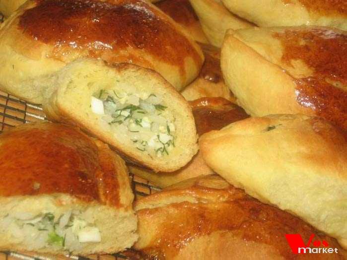 Пирожки с мясом и рисом пошаговый рецепт с