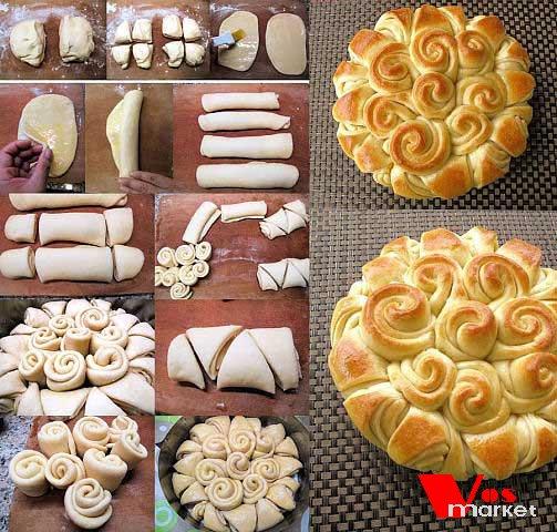 Украшение пирогов из дрожжевого теста с пошаговым