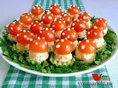 Вкусные закуски и салаты к праздничному столу с