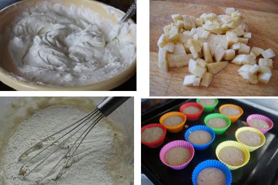 Процесс приготовления маффин