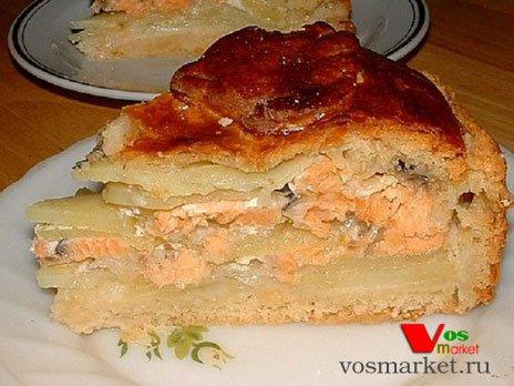 Пирог с рыбой и картошкой рецепт видео