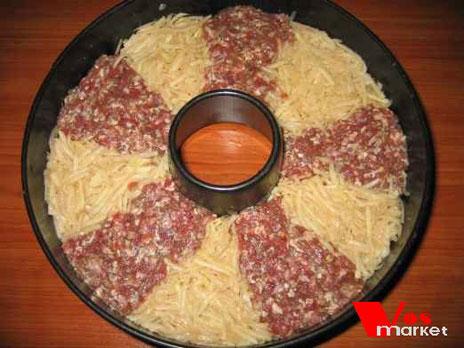 Картошка с фаршем запеченная в духовке Рецепт Фото