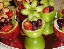 Яблочные корзинки с фруктами