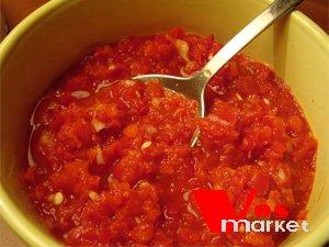рецепт аджики из перца с баклажанами