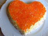 Фото готового блюда: Салат в виде сердца