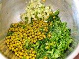 Подготовленные овощи и зелень