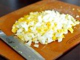 Измельченные яйца