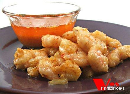 Креветки в сливочный-чесночном соусе
