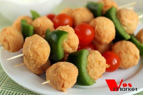 Вкусные шарики из куриного фарша