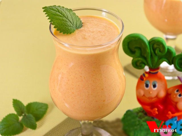 Молочно морковный коктейль