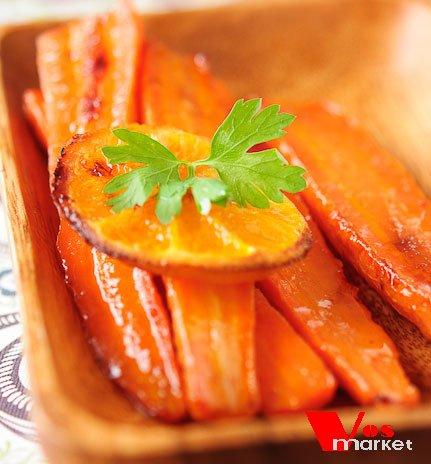 Морковь запеченная на гриле с лимоном