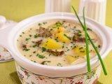 Фото готового блюда: Сырный суп с грибами