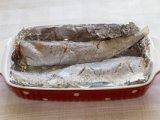 Рыба в форме с фольгой