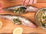 Очищенная фаршированная рыба