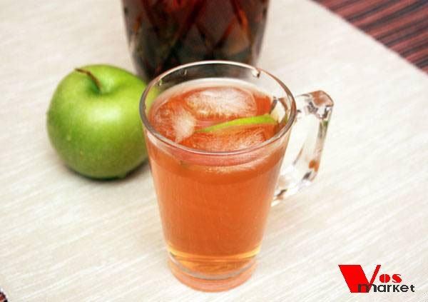 Чай с яблоком и мятой