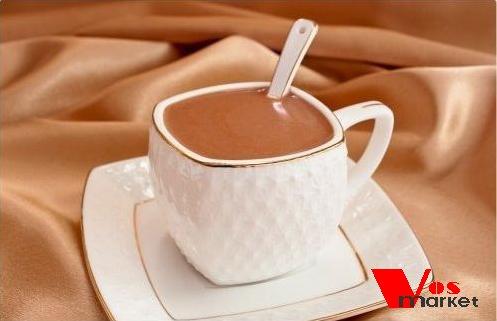 Домашний горячий шоколад в чашке
