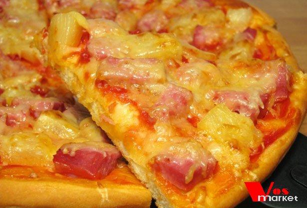гавайская пицца ветчина с ананасами рецепт