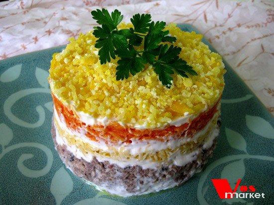 салат из сайры рецепт с фото