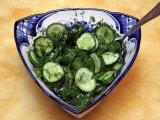 Фото готового блюда: Салат из огурцов с мёдом