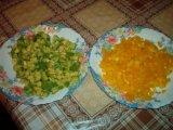 Красный перец и авокадо