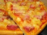 Фото готового блюда: Пицца гавайская с ананасами