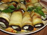 Фото готового блюда: Рулетики из баклажанов