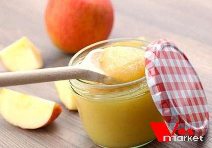 Яблочный мусс в стакане