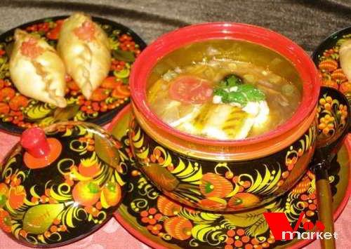 Первое блюдо из русской кухни