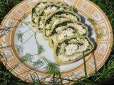 Фото готового блюда: Рулет из сыра с шпинатом