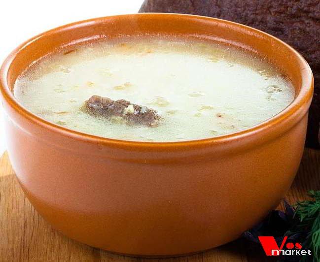 Суп из свинины с пшеном
