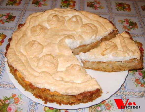 Фото готового блюда: Яблочный пирог с зефиром