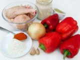 Необходимые продукты питания для приготовления паприкаш