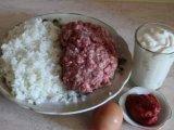 Мясной фарш и рис