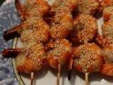 Фото готового блюда: Креветки на гриле с медом
