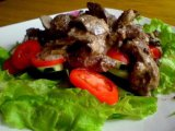 Главное фото рецепта Куриная печень с грибами