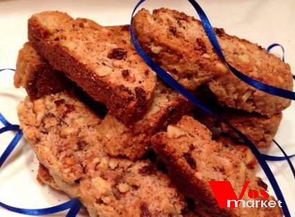 Готовые печенье бискотти с орехом