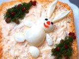 Фото готового блюда: Салат новогодний с курицей