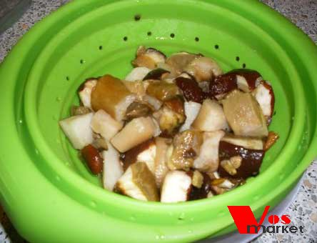 Очищенные помытые грибы
