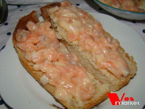 Готовый бутерброд с сёмгой