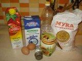 Продукты для приготовления теста томатных блинов
