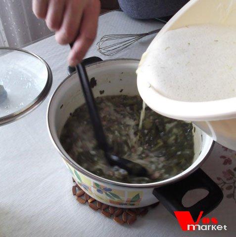 Добавление заправки в суп