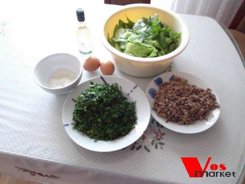 Подготовленные продукты для супа