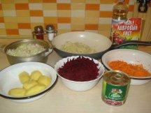 Ингредиенты для приготовления овощного борща