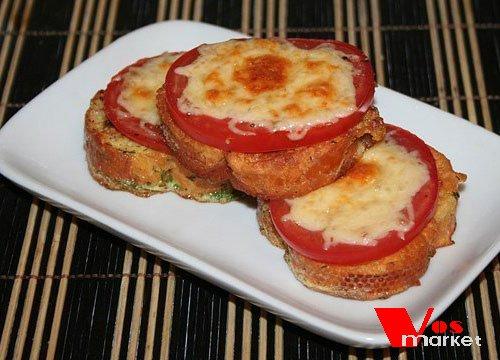 гренки с сыром и помидором рецепт с фото