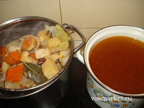Готовый овощной бульон