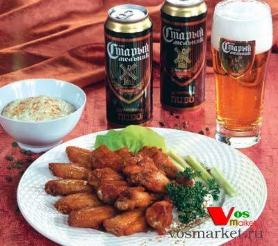 Куриные крылышки с карри и чесноком к пиве