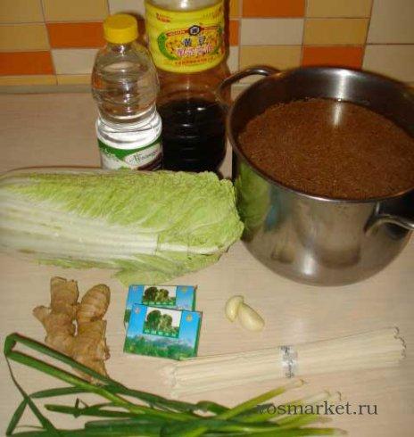 Ингредиенты для приготовления китайского овощного супа