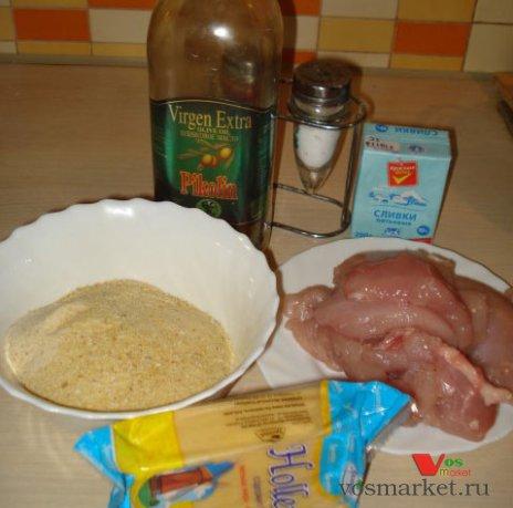 Ингредиенты, для приготовления филе с сухарями в духовке